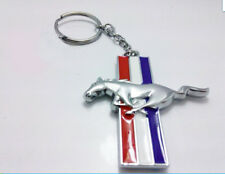 Chrome Finish Pony Horse Key Chain Fob Ring Keychain For Mustang GT 500 Cobra