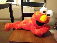 "20"" ELMO Laying Down On His Belly Fisher Price 2007 Plush Stuffed Animal"