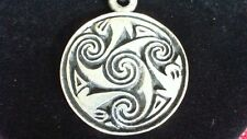 Pictish Brough of Birsay Spiral Pewter Pendant Necklace! Celtic Scottish