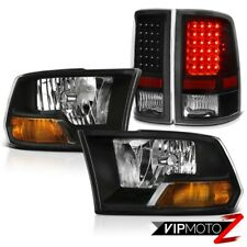 Factory Style Black Headlights LED Tail Lights 2009-2010-2011-2012-2013-2018 Ram