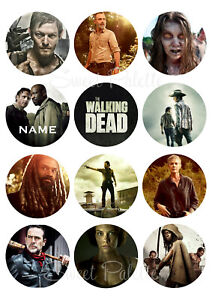 The Walking Dead Cupcake Toppers | Icing / Wafer Paper | Edible Print