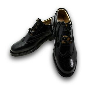 Leather Ghillie Brogue Black Traditional Scottish Shoes for kilt size 6 - 13 New