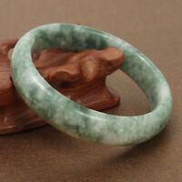 59mm Chinese Beautiful Genuine Natural Green Jade  Jadeite Gem Bangle Bracelet