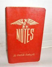 VINTAGE 1943 COCA-COLA BOTTLING CO.NOTEBOOK