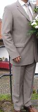 s. Oliver men Herren-Sakko Anzugjacke Größe 54 hellbraun/beige Nadelstreifen TOP