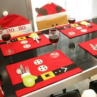 Hot Fashionable Christmas Food Table Mat Christmas Decorations Home Red Color