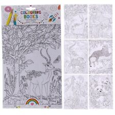 Adult Mindfulness Colouring Book 6 A4 Sheets - Zoo and Animal - Elephant Zebra