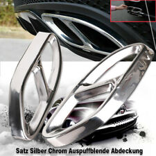 Satz Silber Chrom Auspuffblende Abdeckung für Mercedes W177 W205 W213 W176 W246