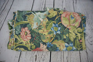 Pottery Barn Lyla Garden Organic Duvet Cover Reversible Tropical floral Queen