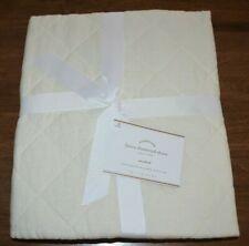 Pottery Barn Belgian Flax Linen Diamond Quilted Standard Pillow Sham Ivory New