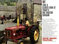 Vintage David Brown 990 Selectamatic Tractor Poster Brochure Art RARE (A3)