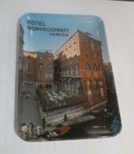 Vintage Hotel Bonvecchiati Venezia Venice Melamine Tip Tray Trinket Dish Ashtray