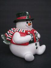 Fitz and Floyd Holiday Snowman Lidded Box