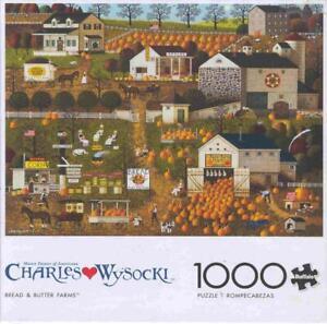 Charles Wysocki Buffalo Games Jigsaw Puzzle Bread and Butter Farms NIB