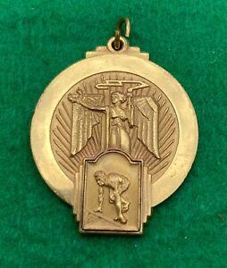 Greek Week Medallion Medal 1956 Alpha Sigma Phi Gold Tone