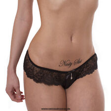 "5 ""Nasty Slut"" Tattoo Schriftzug in schwarz - Sexy Kinky Tattoos Lettering"