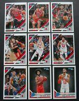 2019-20 Panini Donruss Chicago Bulls Base Team Set of 9 Basketball Cards