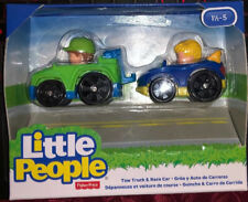 NEW FISHER PRICE WHEELIES TOW TRUCK AND RACE CAR