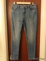 A.n.a.~Womens 12 Stretch Distressed Skinny Blue Jeans