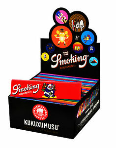 1 Box Smoking KUKUXUMUSU King Size Papers 50 Heftchen x 33 Blättchen Long Paper