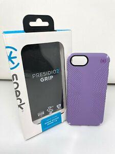 Speck Presidio2 Grip Case for iPhone SE 2nd Gen & iPhone 8 / 7 - Marabou Purple