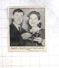 1963 Mr And Mrs Sidney Chinn, Camborne, Second Honeymoon Contest