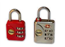 Yale Reise Schlösser Set 1 TSA Zahlenschloss + 1 Kofferschloss Gepäck Schloss