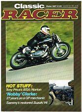 Classic Racer Winter 1987 Supercharged Gilera Suzuki V4 NSU DKW Excelsior CR110
