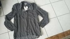 Ladies NWT $89 SUNDRY top size 1 button down shirt made in India MSRP was $191