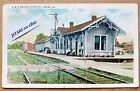 1910s LOUISA, VA, C&O RAILWAY STATION WE BURGESS POSTCARD, UNLISTED RARE