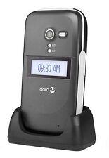 BRAND NEW DORO PHONE EASY 620 GRAPHITE UNLOCKED+CHARGING CRADLE+ALL ACCESSORIES