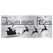 """50 Etiquettes autocollantes cadeaux """"Joyeuses fêtes"""" couleur gris"""