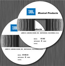 JBL E110 E120 E130 E140 K110 K130 K140 E145 E155 K151 STICKER LABEL
