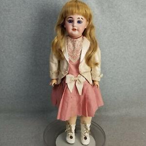 "24"" antique bisque head & composition body German DEP AM 1894 Doll"