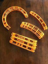 K'Nex - Raptor's Revenge Roller Coaster Track - Complete 26 Pieces - Orange E