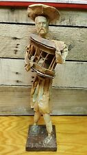 Vintage Mexican Paper Mache Folk Art Doll Peasant man with chicken cage