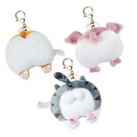Cute Funny Corgi Cat Pig Butt Key Chain Cartoon Animal Bag Pendant Decor Welcome