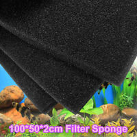100*50*2cm Black Aquarium Fish Tank Pond Sponge Biochemical Cotton Filter