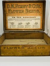 RARE Victorian D.M. Ferry & Co Flower Seed Carved Oak Box Store Display