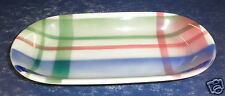 Syracuse China Plaid Thistle Oblong Relish- Excellent Condition