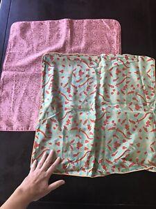 "Set of 2 John Robshaw Decorative Pillow Covers 20""x20"" 100% Silk"