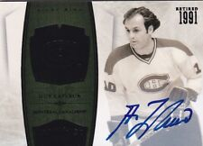 Guy Lafleur 10/11 Panini Dominion Retired Autograph BLACK 1/1