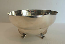 "Lovely Art Deco Mid-Century Sterling Silver 8"" Footed Bowl, 533 Grams"