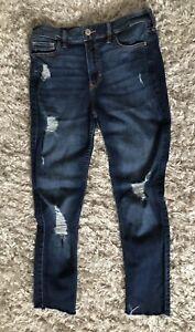 Hollister Jeans 5S W27 L28 High Rise Super Skinny abgeschnitten Boho Hip*TOP