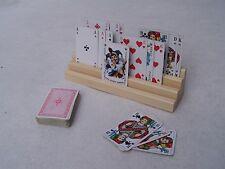 Spielkartenhalter / Kartenhalter Holz