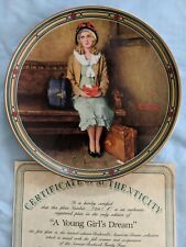 Edwin M. Knowles China Young Girl's Dream Collector's Plate