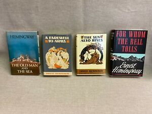 The First Edition Library Ernest Hemingway 4 book lot - Facsimile editions