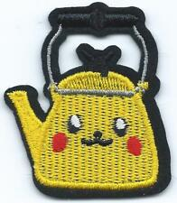 Pikachu Kettle Embroidered Patch Iron-on