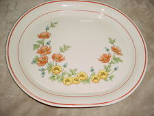 CORELLE ROSE GARDEN OVAL SERVING PLATTER 12 INCH FREE USA SHIPPING