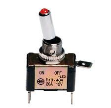 LAMPA 45557 PULSANTE INTERRUTTORE CON LED 2 TERMINALI 12V 20A Foro Ø 12,2 mm